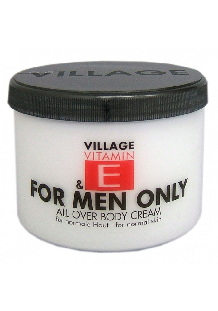 "Village Bodycreme Vitamin E ""FOR MEN ONLY"""