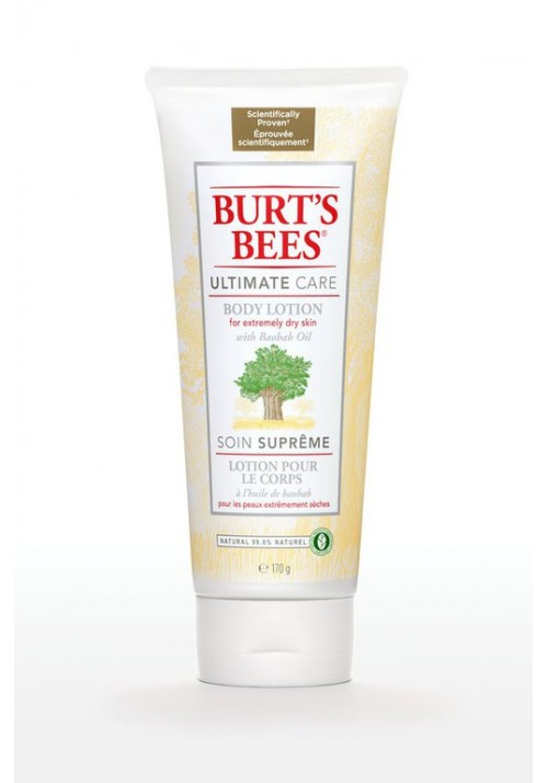 Body lotion wich Boabab Oil Burt's Bees