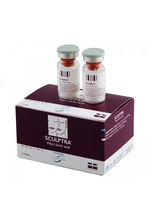 Sculptra poly-L-lactic acid 2 vials